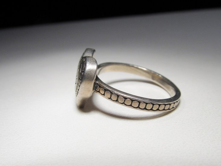 Signed Brighton Sterling Silver Heart Ring Size 8 Wc 307