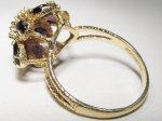 2 Carat Estate Romany Amethyst & Diamond Ring 14K Gold WC-330
