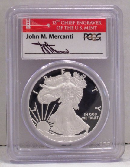Silver Eagle 2012-S PCGS PR 70 DCAM 75th 1st Strike SF WDEA-14