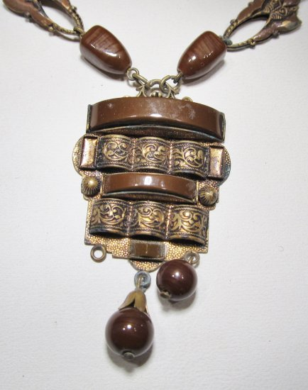 vintage czech art deco pendant necklace wc 381. Black Bedroom Furniture Sets. Home Design Ideas