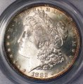 Morgan Dollar 1882-S PGGS MS 64 Lightly Toned Coin WDEB-11