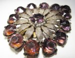 Purple Glass Stone Fur Clip Gorgeous WC-317