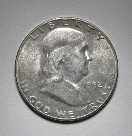 Franklin Half Dollar 1952-S Choice AU Coin WDEE-07
