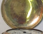 Vintage Elgin Pocket Watch 60 Minute Dial Hunting Case WDEW-01
