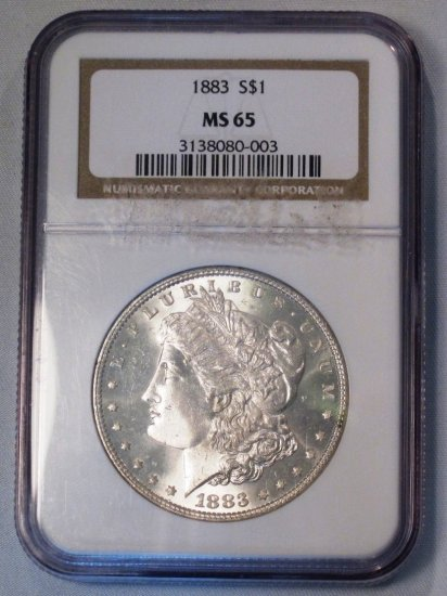 Morgan Dollar 1883 NGC MS 63 Original White Coin WDEB-13