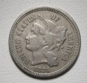 Nickel Three Cent Piece 1874 Very Fine Coin WDED-52