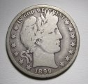 Barber Half Dollar 1899-O Very Good Silver Coin WDED-33