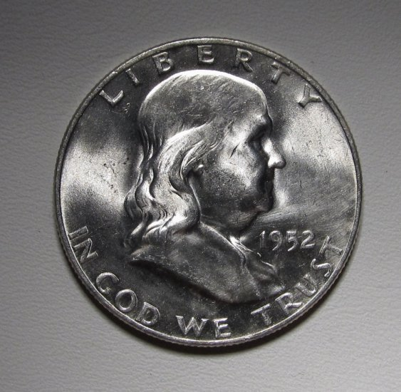 Franklin Half Dollar 1952-D MS 63 FBL Coin WDEE-06