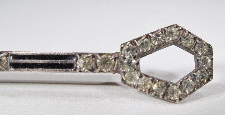 vintage sterling art deco rhinestone bar pin wc 027 74. Black Bedroom Furniture Sets. Home Design Ideas