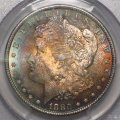 Morgan Dollar 1880-S PCGS MS 65 Toned Old US Silver Coin WDEC-19