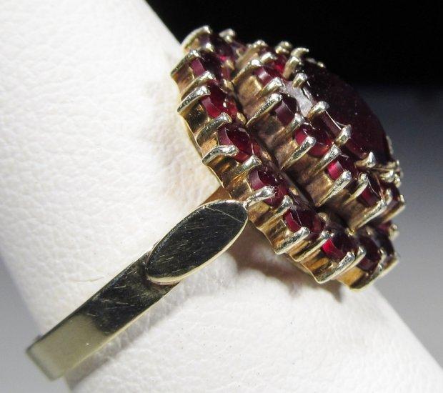 Vintage 14k Gold Bohemian Garnet Ring Wc 329 00