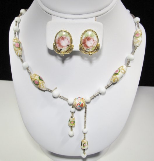 Vintage Art Deco Wedding Cake Glass Necklace WC-440 - USD199 ...