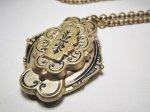 Antique Victorian Gold Filled Locket Necklace WC-361