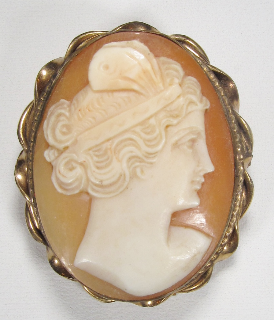 vintage 12k gf flapper girl cameo brooch pendant wc 167 decatur coin and jewelry. Black Bedroom Furniture Sets. Home Design Ideas