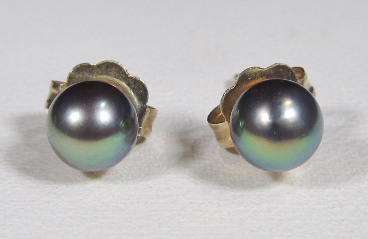 14K Gold Akoya Pearl Earrings IPS Imperial WC-185