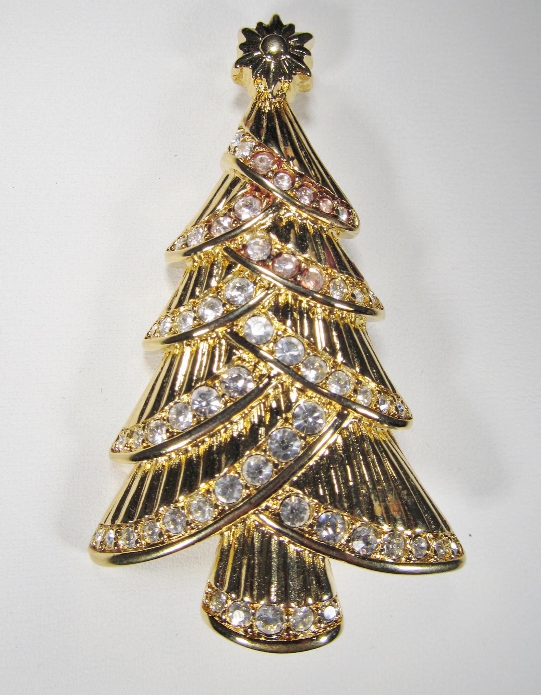 Swarovski Signed Christmas Tree Brooch WC-054 - $94.99 : Decatur ...