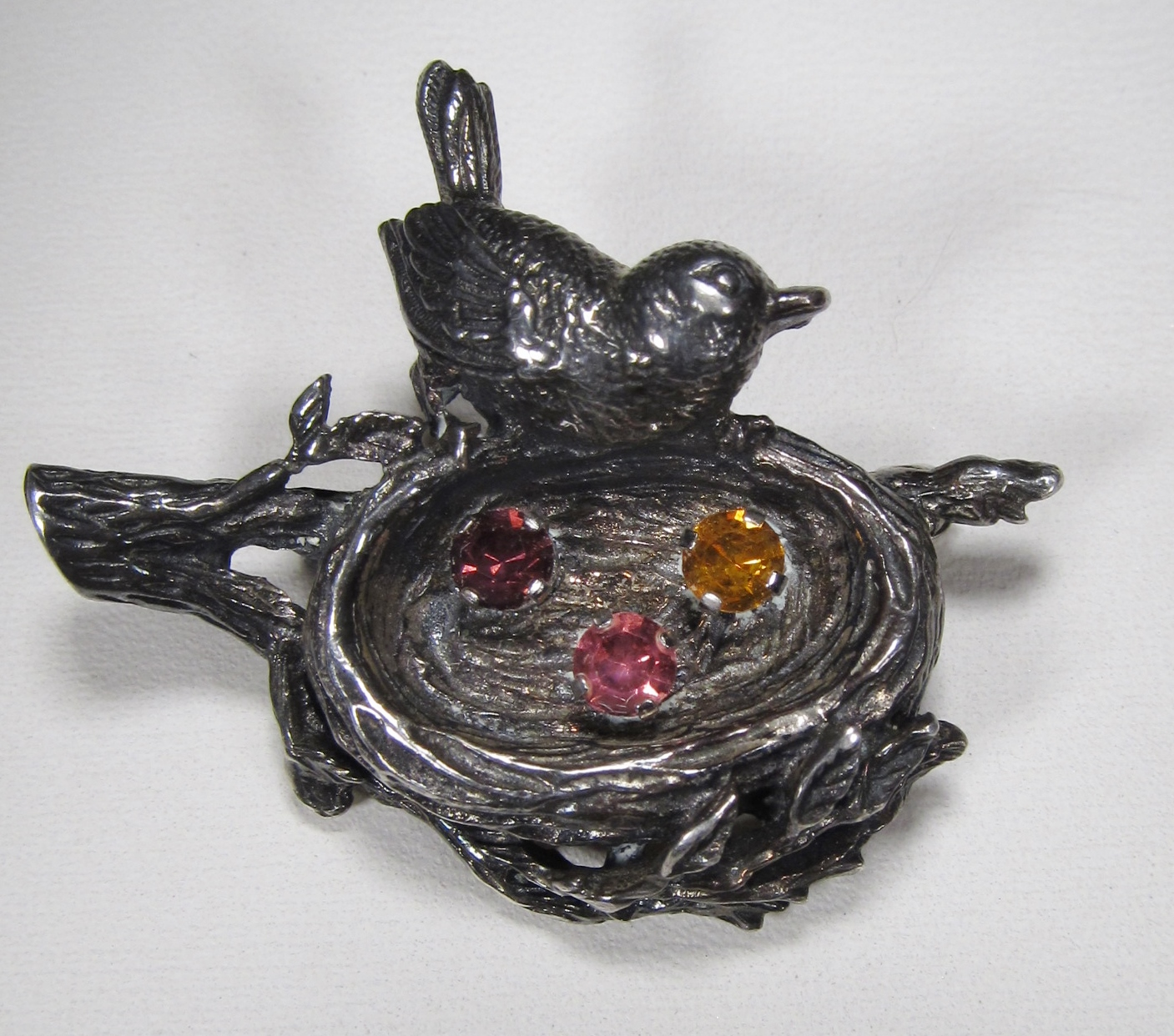 vintage anson sterling silver bird nest brooch wc 006 decatur coin and jewelry coins. Black Bedroom Furniture Sets. Home Design Ideas