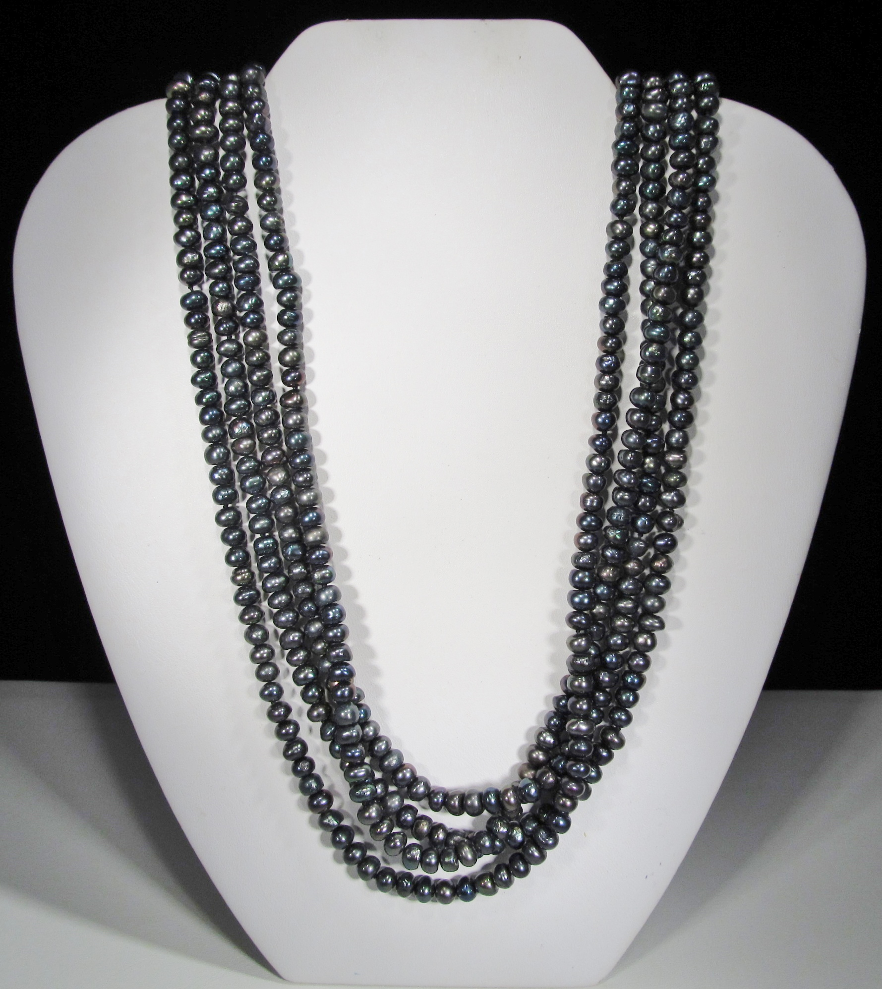 55mm Real Black Pearl Rope 99 Long WC 031