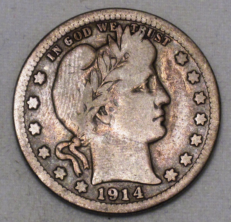 Barber Dime Key Dates : Barber Quarter 1914-S Key Date Nice VG Grade Silver Coin WDEE-13 - $ ...